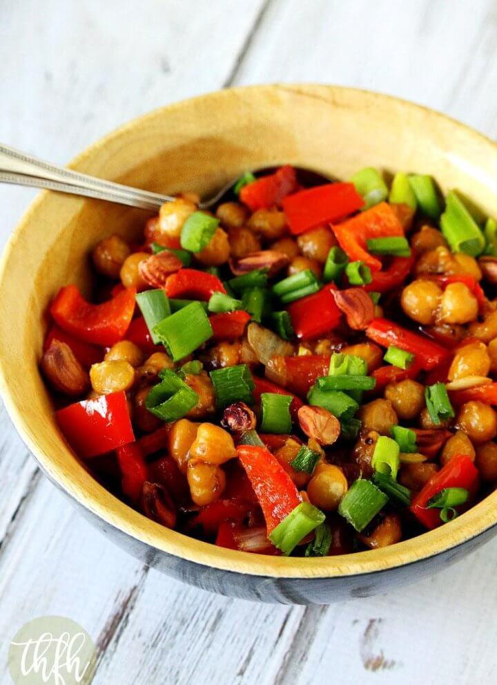 Vegan Kung Pao Chickpea Stir-Fry