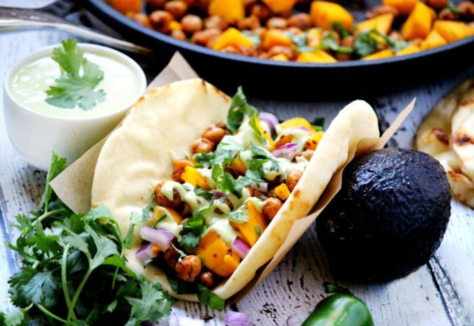 Vegan Spicy Chickpea and Mango Wraps (Vegan, Dairy-Free)