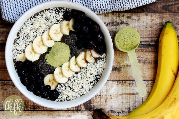 Pro Matcha Banana and Avocado Smoothie Bowl | The Healthy Family and Home