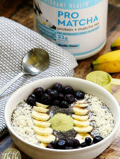 Pro Matcha Banana Avocado Smoothie Bowl | The Healthy Family and Home