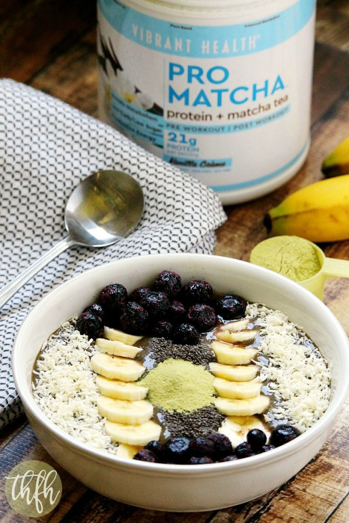 Pro Matcha Banana and Avocado Smoothie Bowl