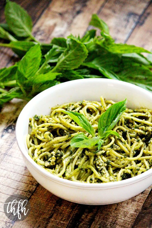 Zucchini Pasta with Vegan Basil Pesto