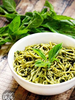Zucchini Pasta with Vegan Basil Pesto | The Healthy Family and Home