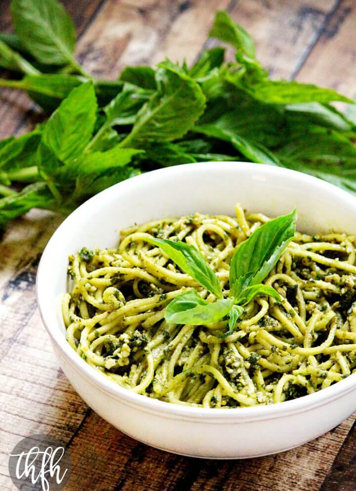 Zucchini Pasta with Vegan Basil Pesto