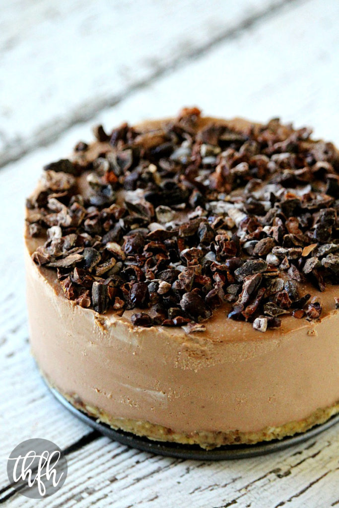 Raw Vegan Chocolate Banana No-Bake Cheesecake