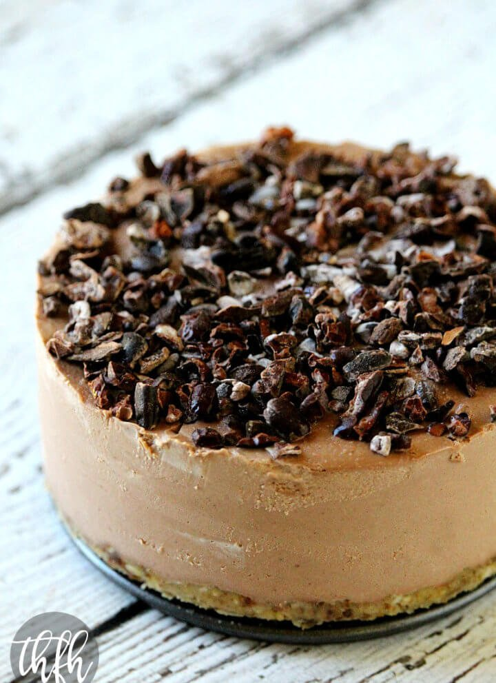 Raw Vegan Chocolate Banana Cheesecake | The Healthy Family and Home