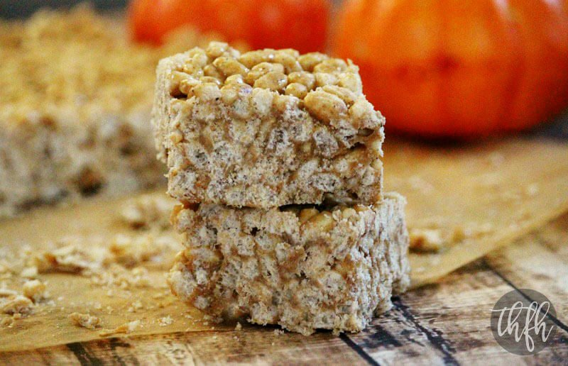 Vegan Pumpkin Spice Rice Crispy Treats | The Healthy Family and Home