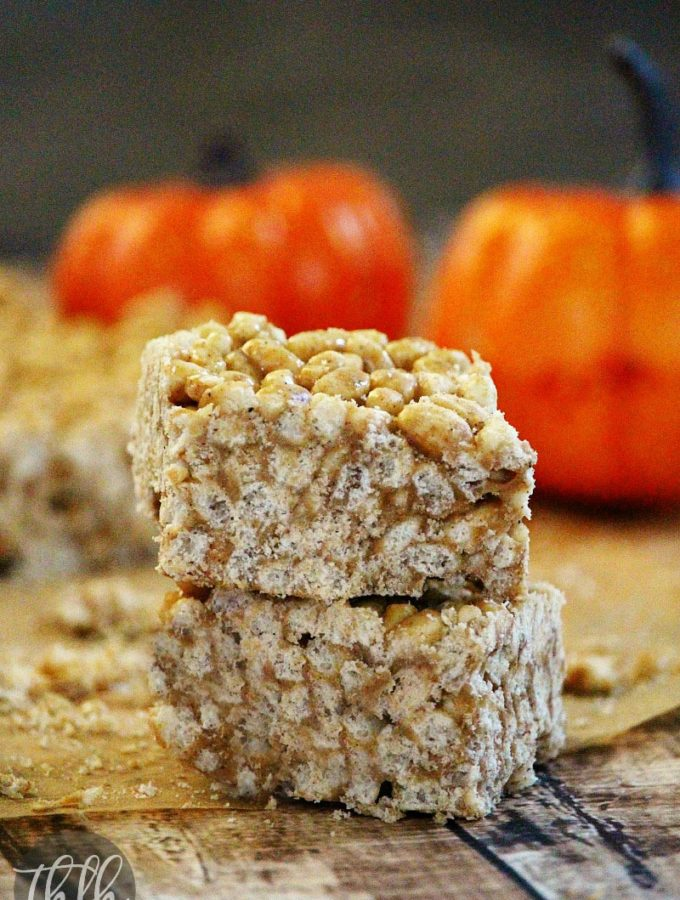 Vegan Pumpkin Spice Rice Crispy Treats | The Healthy Family and Home