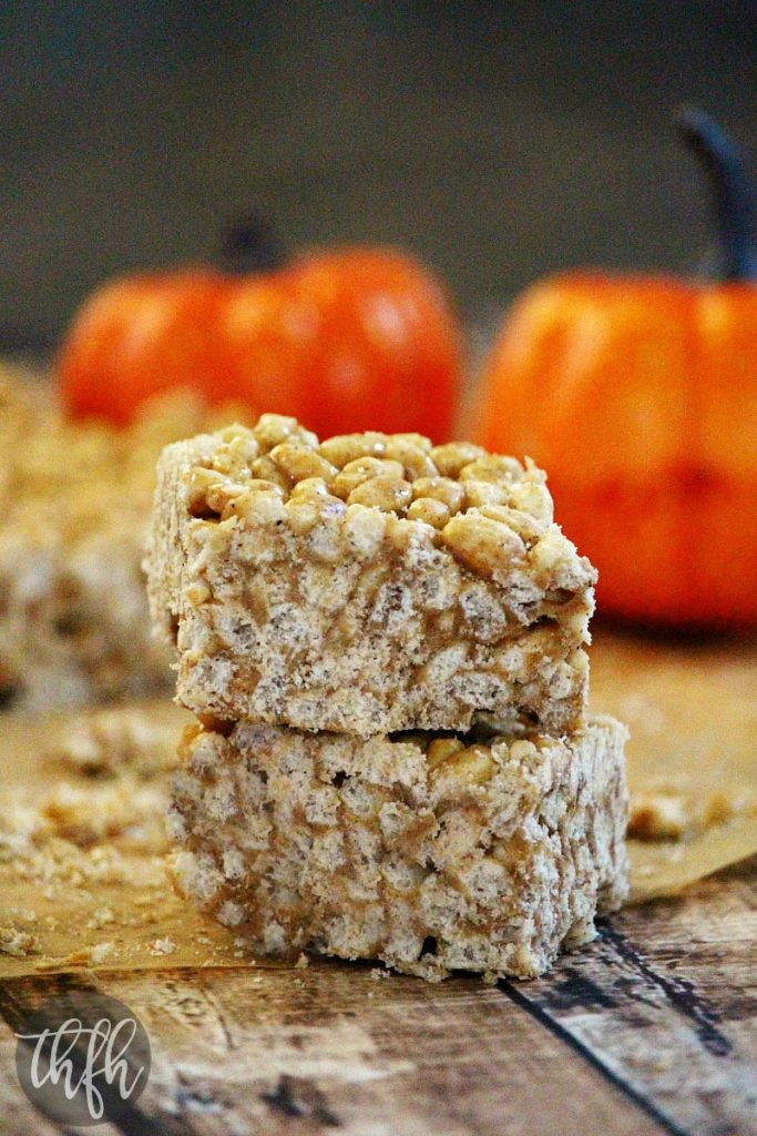 Vegan Pumpkin Spice Rice Crispy Treats