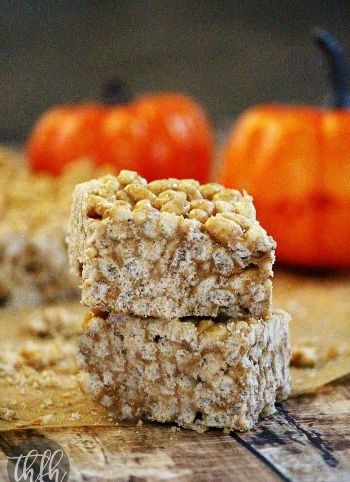 Vegan Pumpkin Spice Rice Crispy Treats