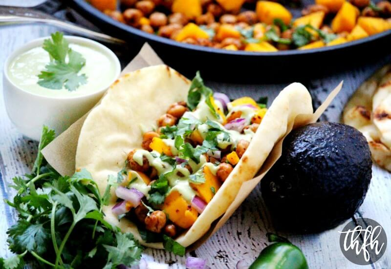 Vegan Spicy Chickpea and Mango Wraps | The Healthy Family and Home