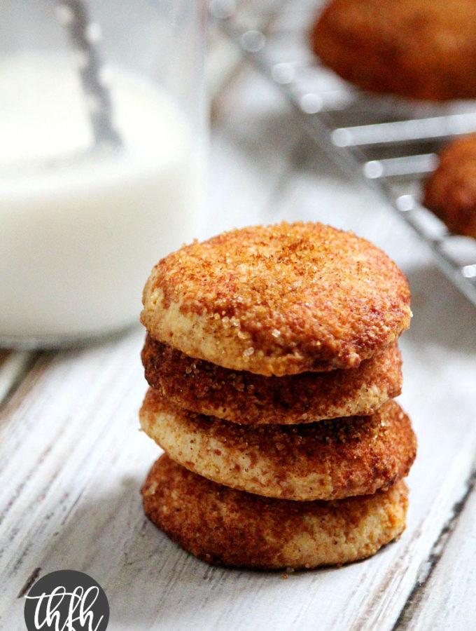 Flourless Vegan Snickerdoodle Cookies
