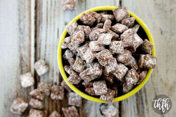 "Gluten-Free ""Puppy Chow"" Muddy Buddies (Vegan, Gluten-Free, Dairy-Free, Soy-Free, No Refined Sugar)"