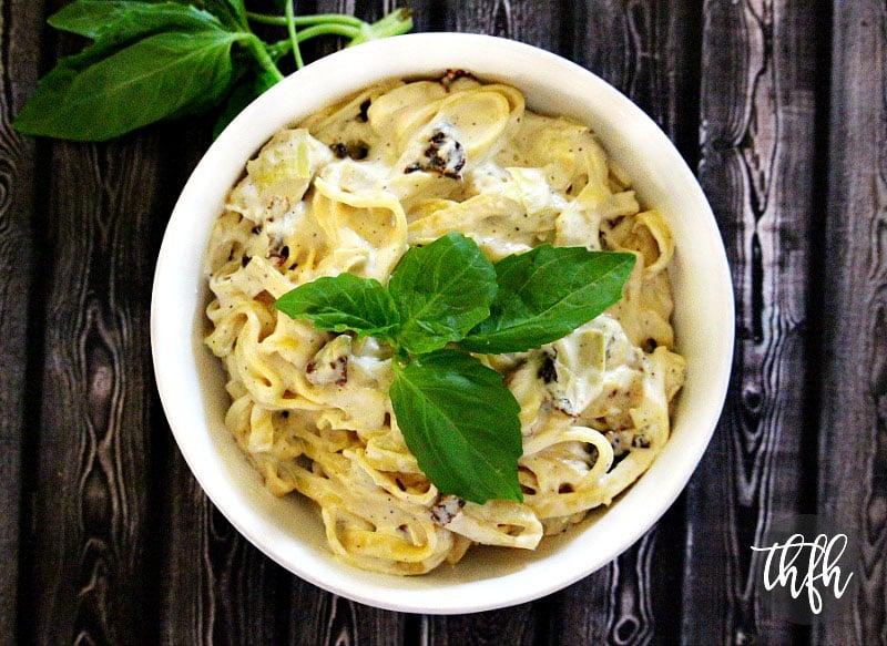Gluten-Free Vegan Artichoke and Sun-Dried Tomato Fettuccine | The Healthy Family and Home