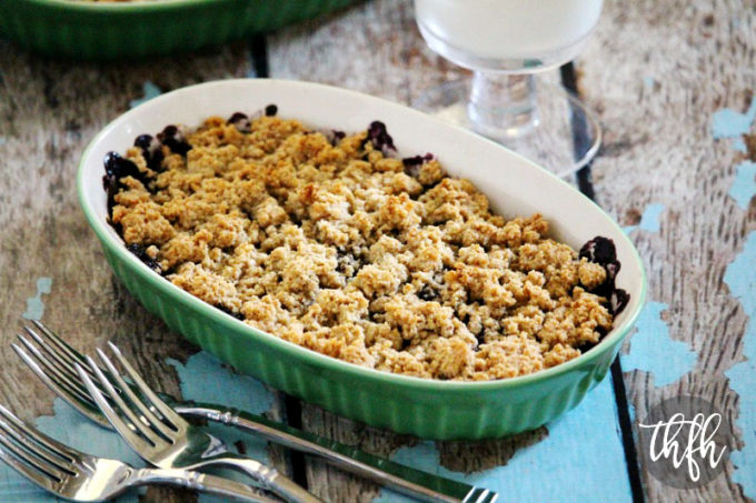 Gluten-Free Vegan Blueberry and Chia Seed Cobbler (Vegan, Gluten-Free, Grain-Free, Flourless, Dairy-Free, Egg-Free, Paleo-Friendly, No Refined Sugar)