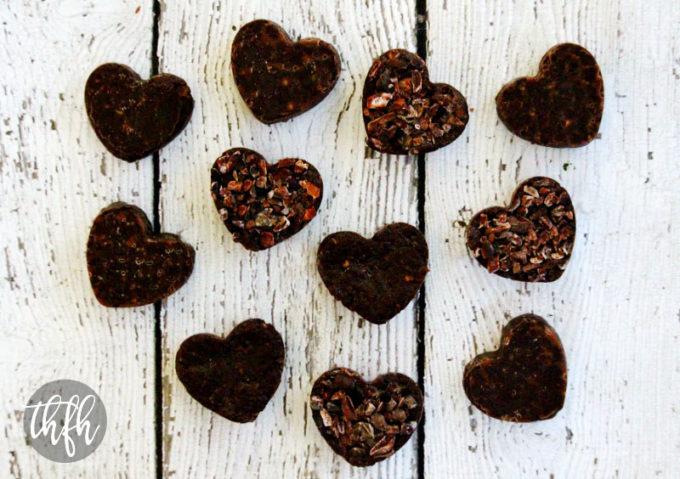 Raw Vegan Chocolate Fudge Caramel Hearts (Raw, Vegan, Gluten-Free, Dairy-Free, Paleo-Friendly, No Refined Sugar)