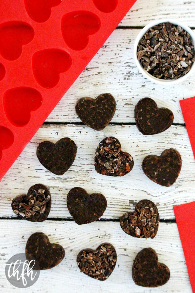 Raw Vegan Chocolate Fudge Caramel Hearts