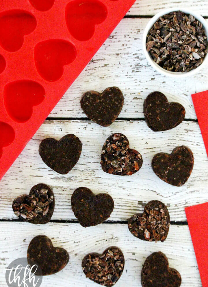 Raw Vegan Chocolate Fudge Caramel Hearts
