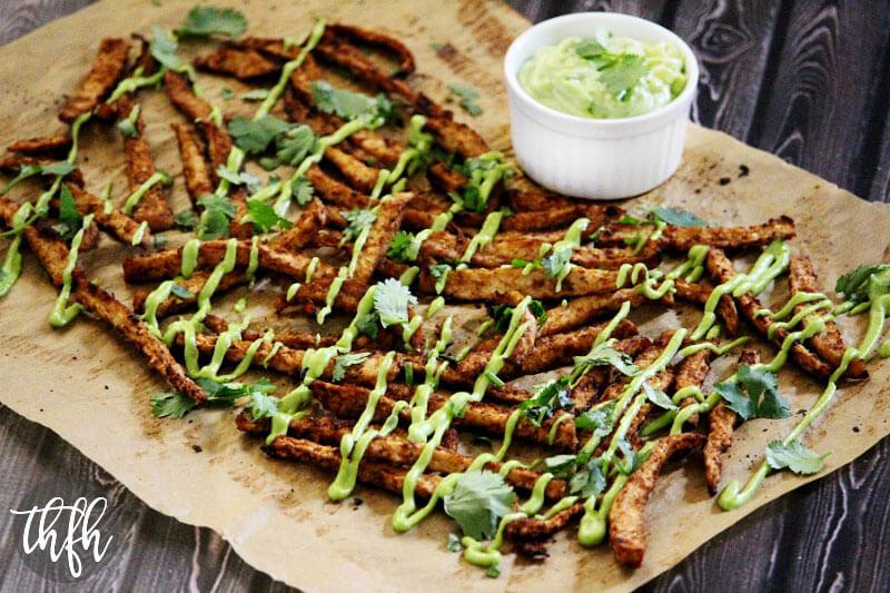 Vegan Oven-Baked Chipotle Jicama Fries (Vegan, Gluten-Free, Dairy-Free)
