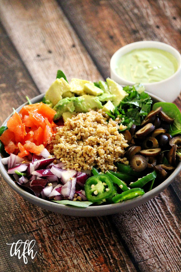 Vegan Taco Salad with Creamy Cilantro Lime Dressing