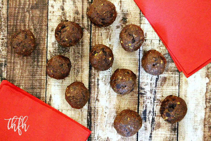 Gluten-Free Vegan Chocolate Chip Pistachio Truffles | The Healthy Family and Home