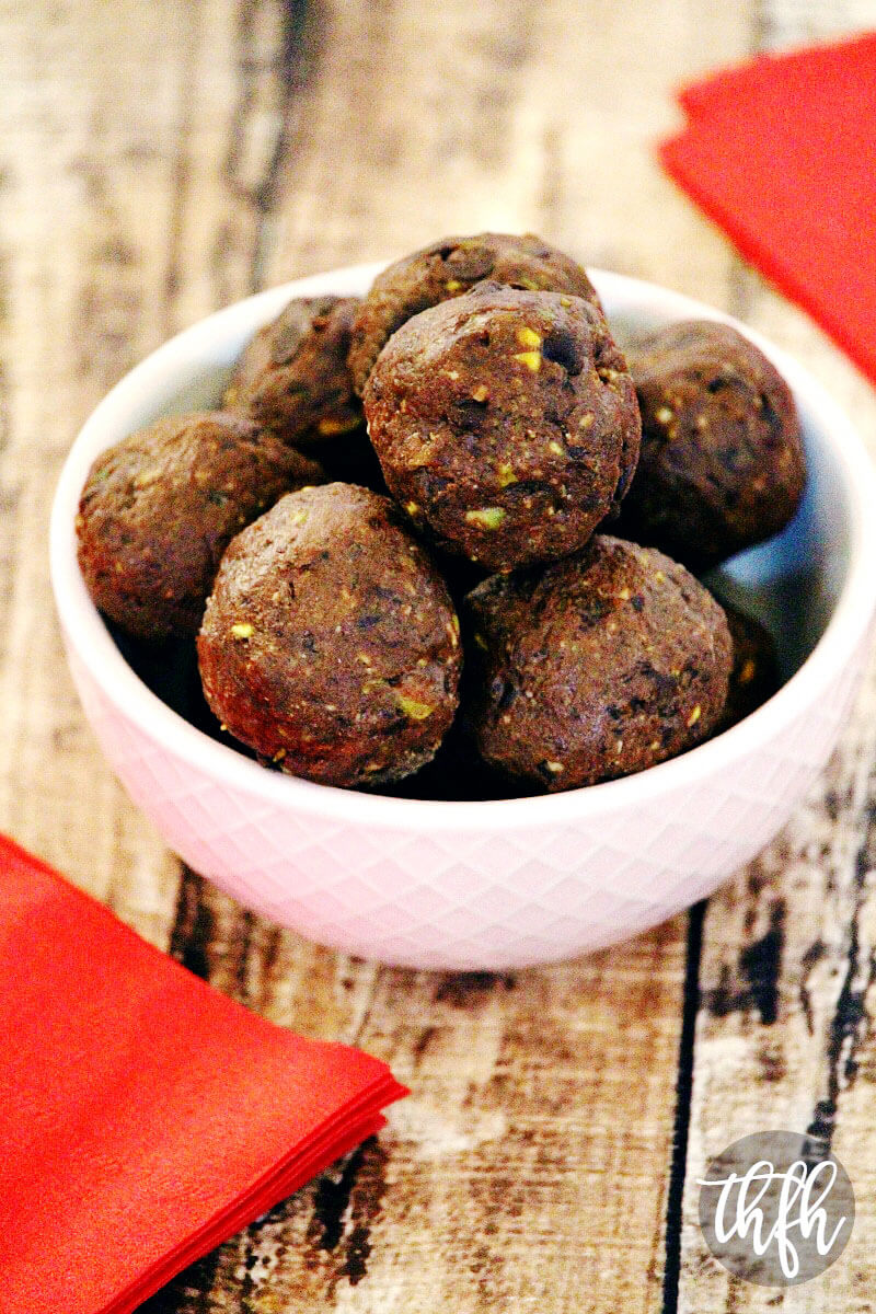 Gluten-Free Vegan Chocolate Chip and Pistachio Brownie Truffles | The Healthy Family and Home