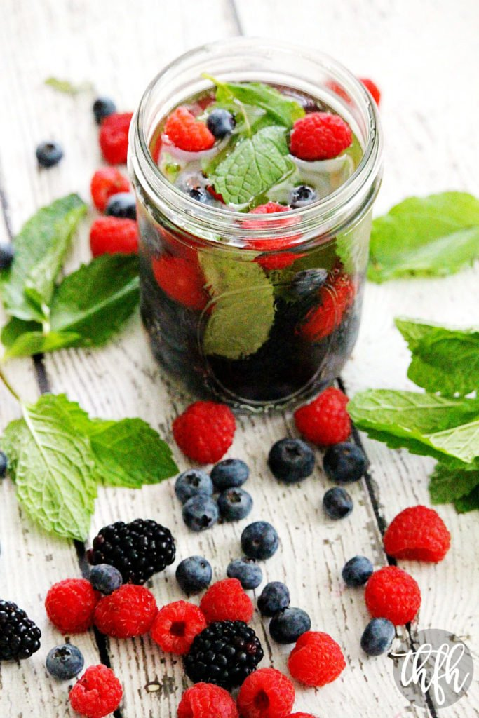 Fresh Berry and Mint Spa Water