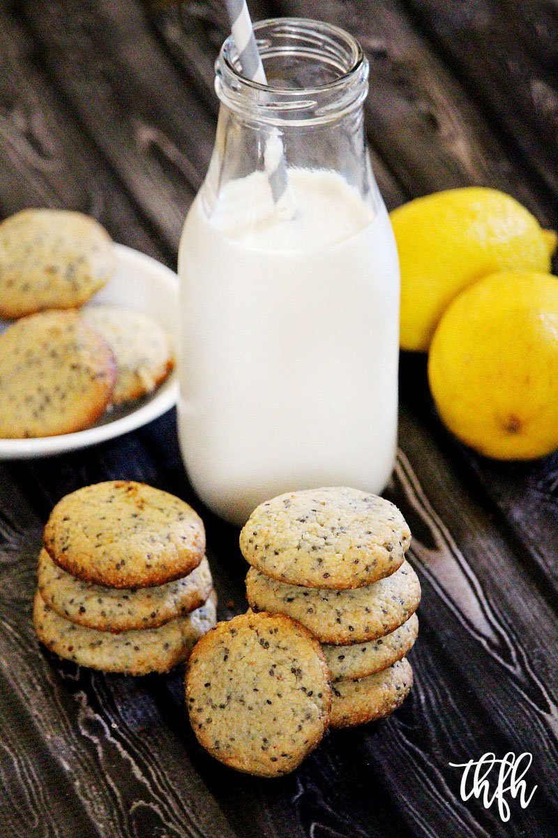 Flourless Gluten-Free Vegan Lemon Chia Seed Cookies | The Healthy Family and Home