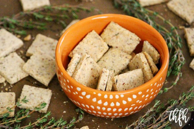 Gluten-Free Vegan Thyme and Garlic Crackers | The Healthy Family and Home