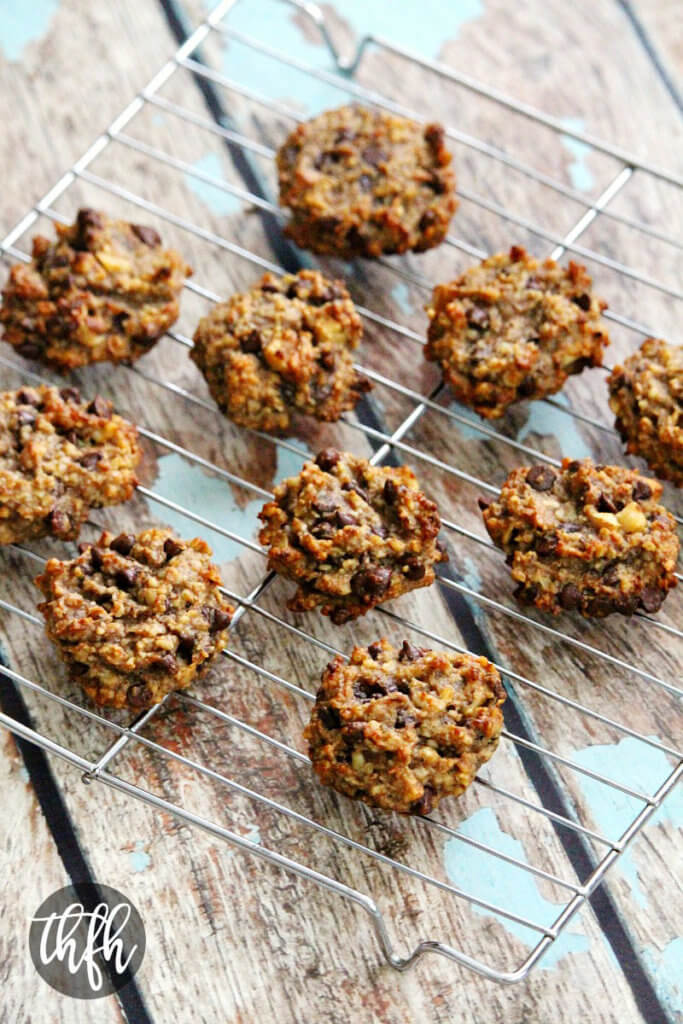 Gluten-Free Vegan Flourless Chocolate Chip Banana Walnut Cookies