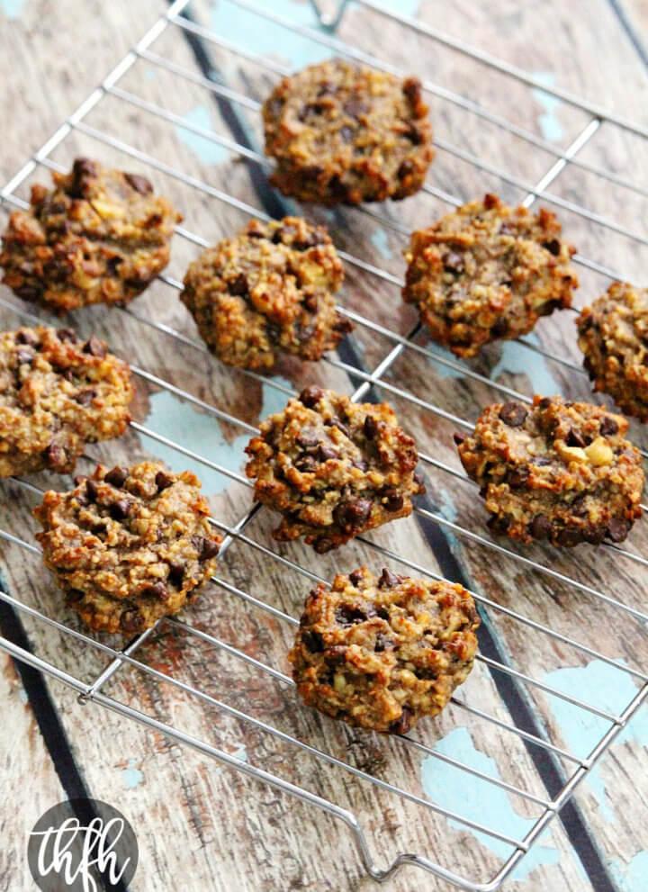 Gluten-Free Vegan Flourless Chocolate Chip Banana Walnut Cookies
