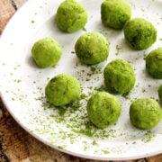 Gluten-Free Vegan Matcha Avocado Chocolate Truffles | The Healthy Family and Home