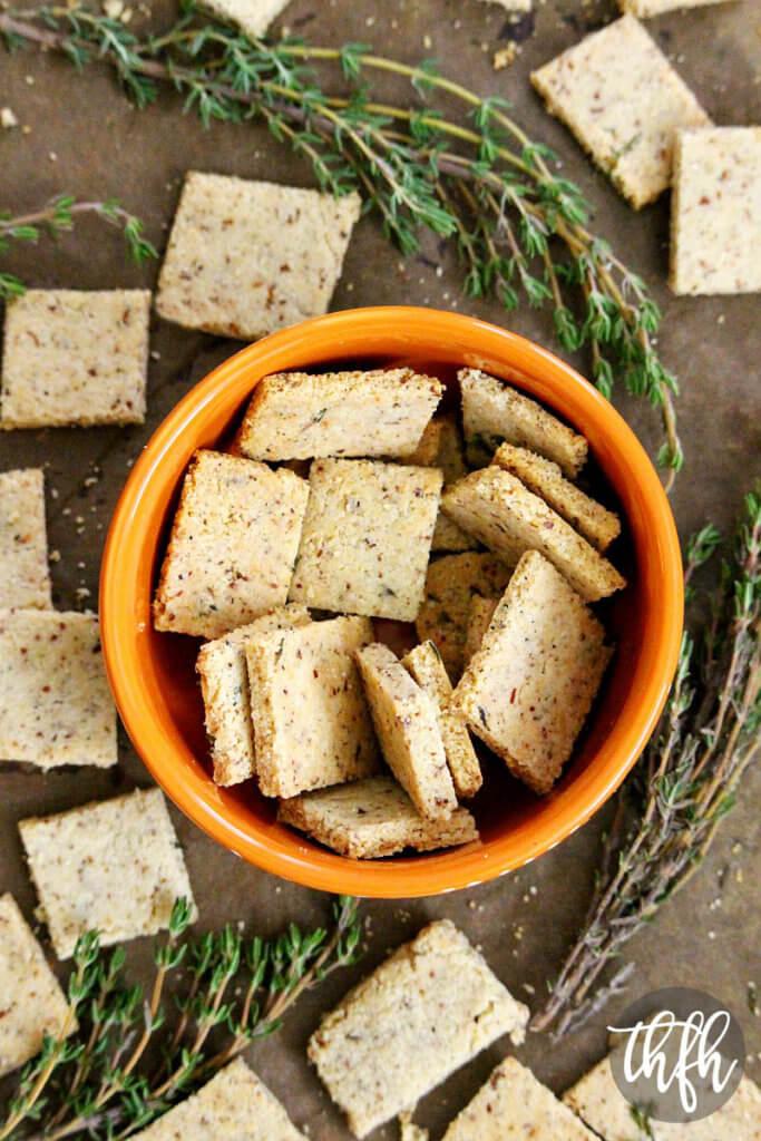 Gluten-Free Vegan Thyme and Garlic Crackers