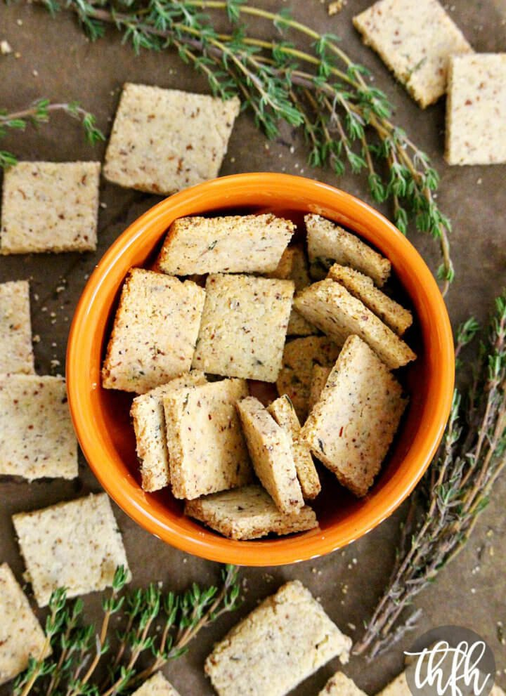 Gluten-Free Vegan Thyme and Garlic Crackers
