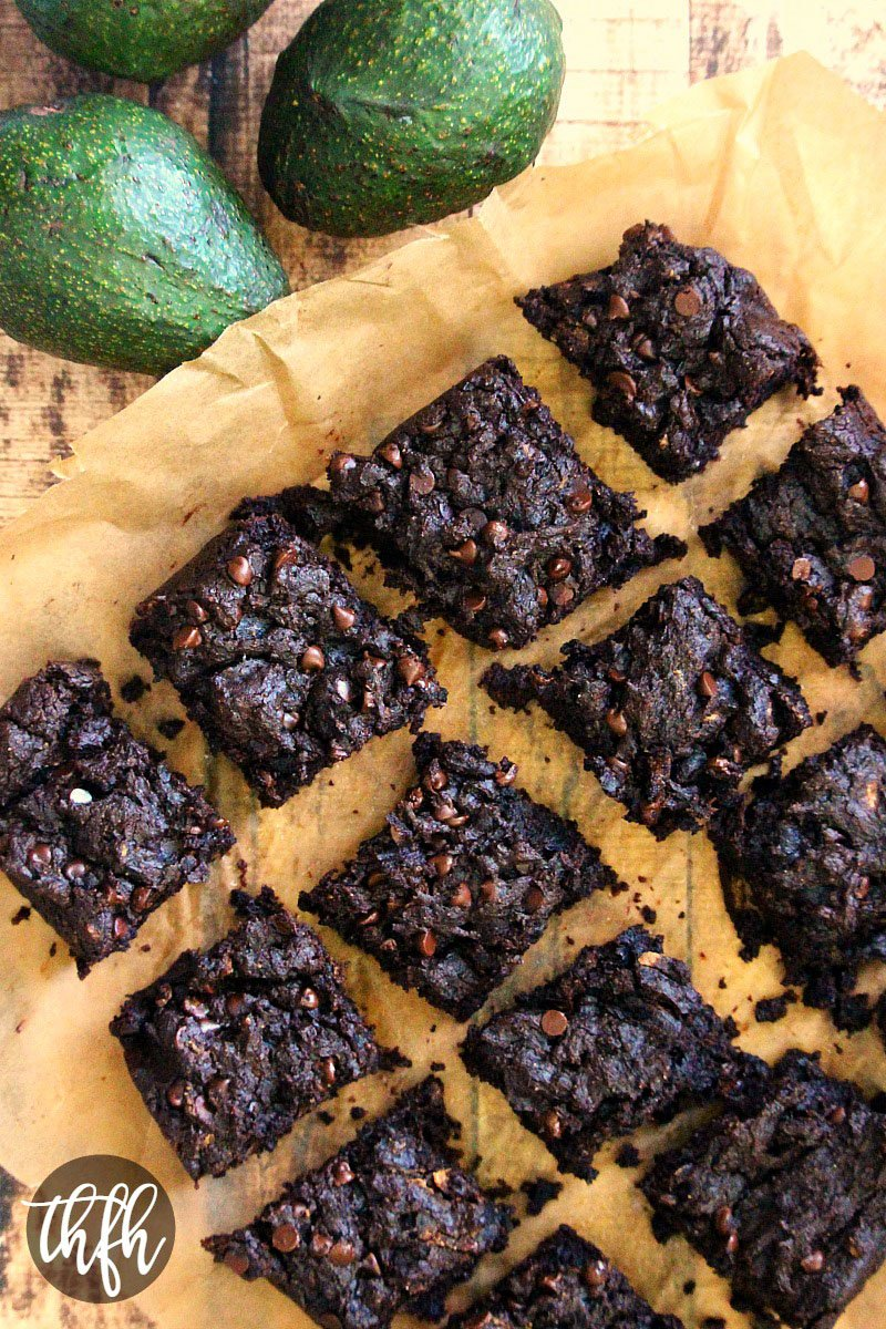 Vegan Flourless Double Chocolate Avocado Brownies | The Healthy Family and Home