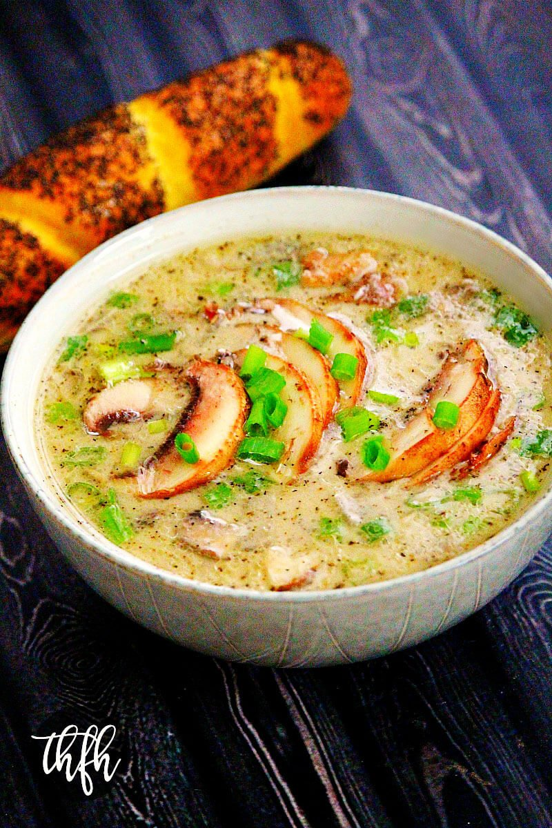 Gluten-Free Vegan Creamy Mushroom Soup | The Healthy Family and Home