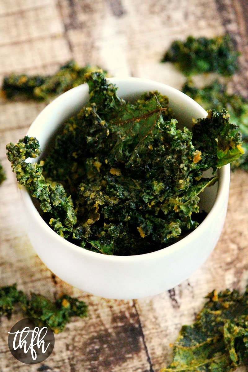 Vegan Baked Cheesy Kale Chips | The Healthy Family and Home