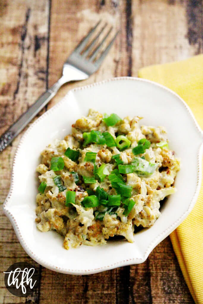 """Vegan Cauliflower """"Potato"""" Salad"""