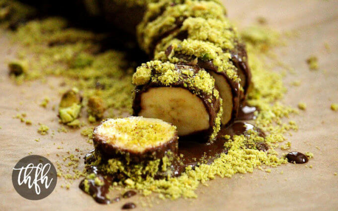 Gluten-Free Vegan Chocolate Banana Sushi with Pistachios (Vegan, Gluten-Free, Dairy-Free, Soy-Free, Paleo-Friendly, No Refined Sugar)