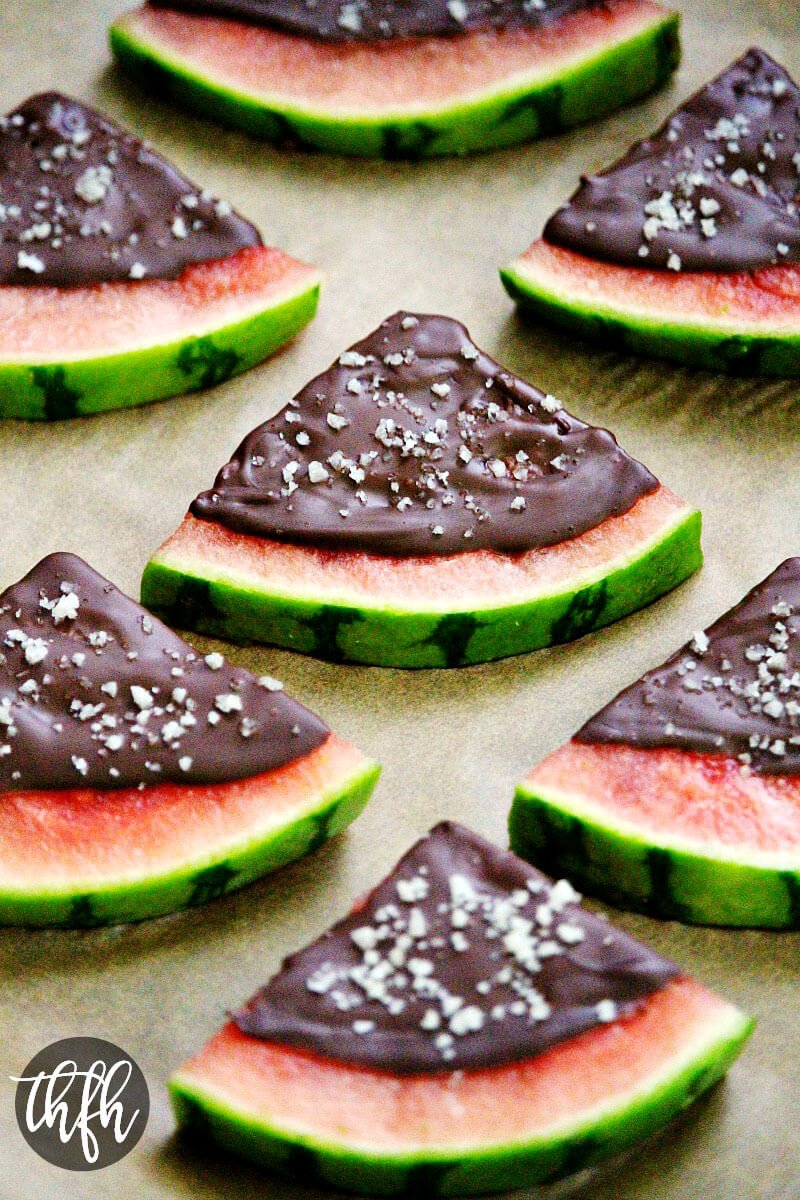 Chocolate Covered Watermelon Slices with Sea Salt | The Healthy Family and Home