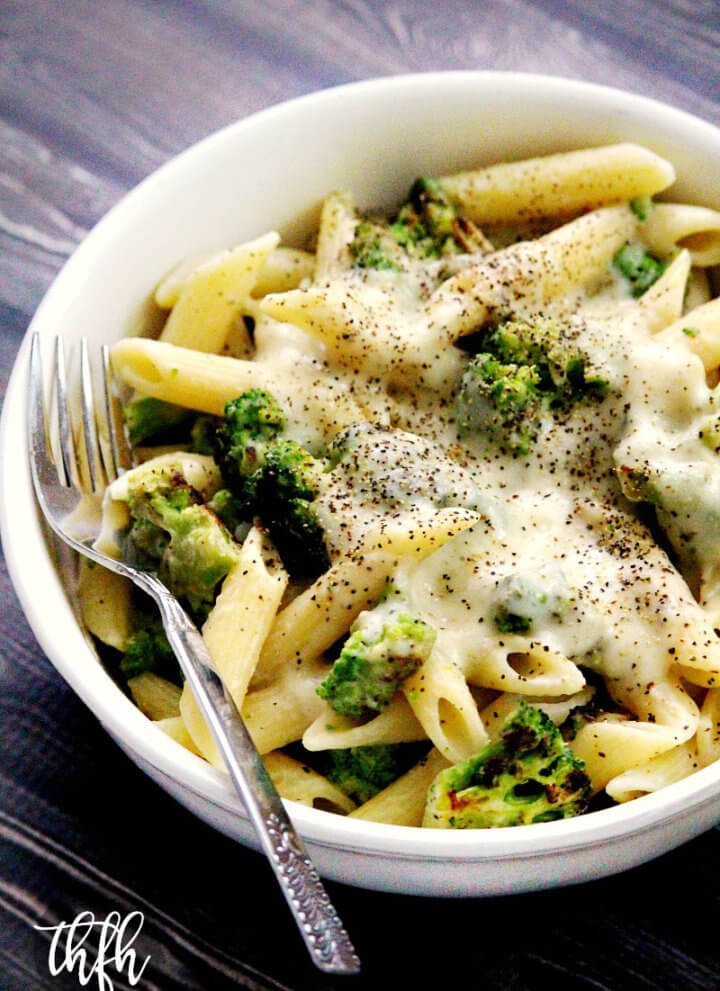 Gluten-Free Vegan Broccoli Alfredo with Creamy Cauliflower Sauce