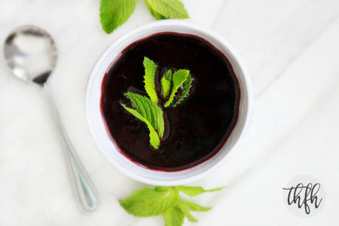 Gluten-Free Vegan Chilled Mixed Berry and Mint Soup | The Healthy Family and Home