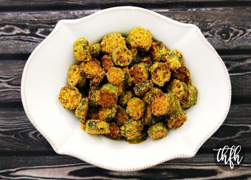 Gluten-Free Vegan Oven-Baked Okra Bites | The Healthy Family and Home