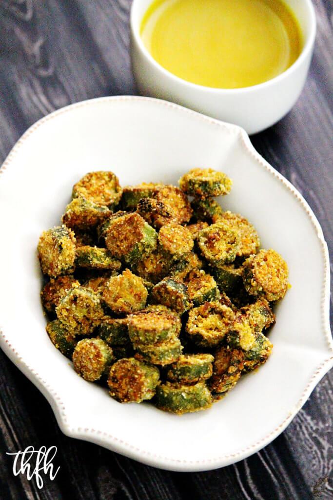 Gluten-Free Vegan Oven-Baked Okra Bites