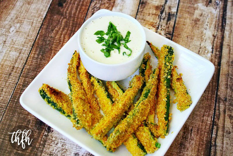 Gluten-Free Vegan Oven Baked Zucchini Fries | The Healthy Family and Home