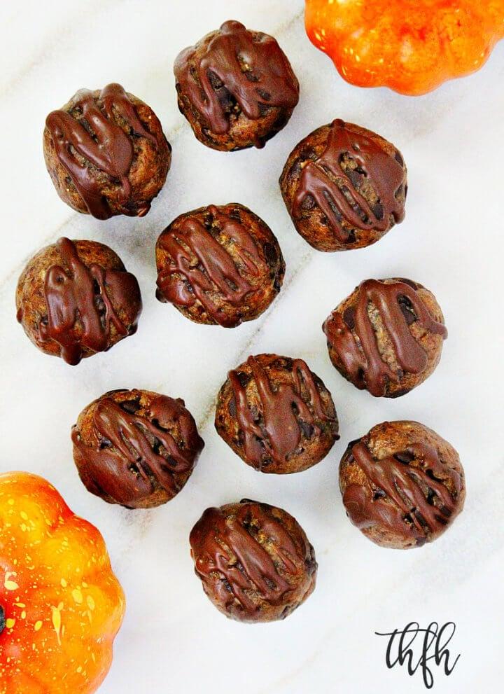 Gluten-Free Vegan Chocolate Chip Pumpkin Spice Bliss Balls