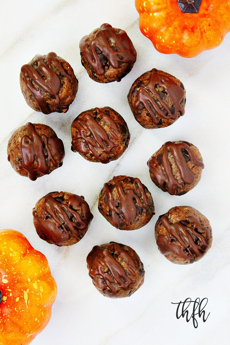 Gluten-Free Vegan Chocolate Chip Pumpkin Spice Balls | The Healthy Family and Home