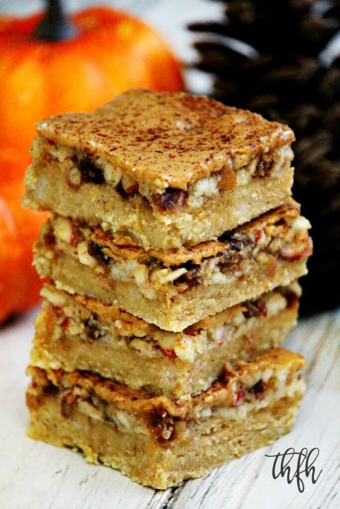 Gluten-Free Flourless No-Bake Vegan Peanut Butter Apple Pie Bars