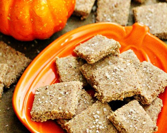 Gluten-Free Vegan Flourless Pumpkin Spice Crackers with Sea Salt
