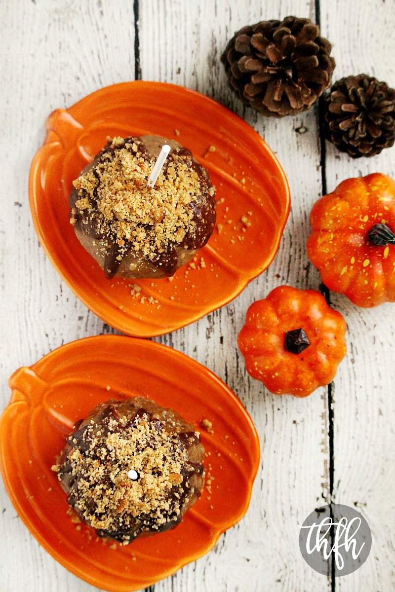 Gluten-Free Vegan Peanut Butter Cookie Caramel Apples | The Healthy Family and Home